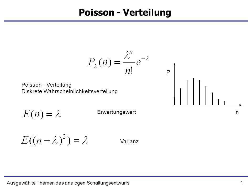 Poisson - Verteilung P Poisson - Verteilung