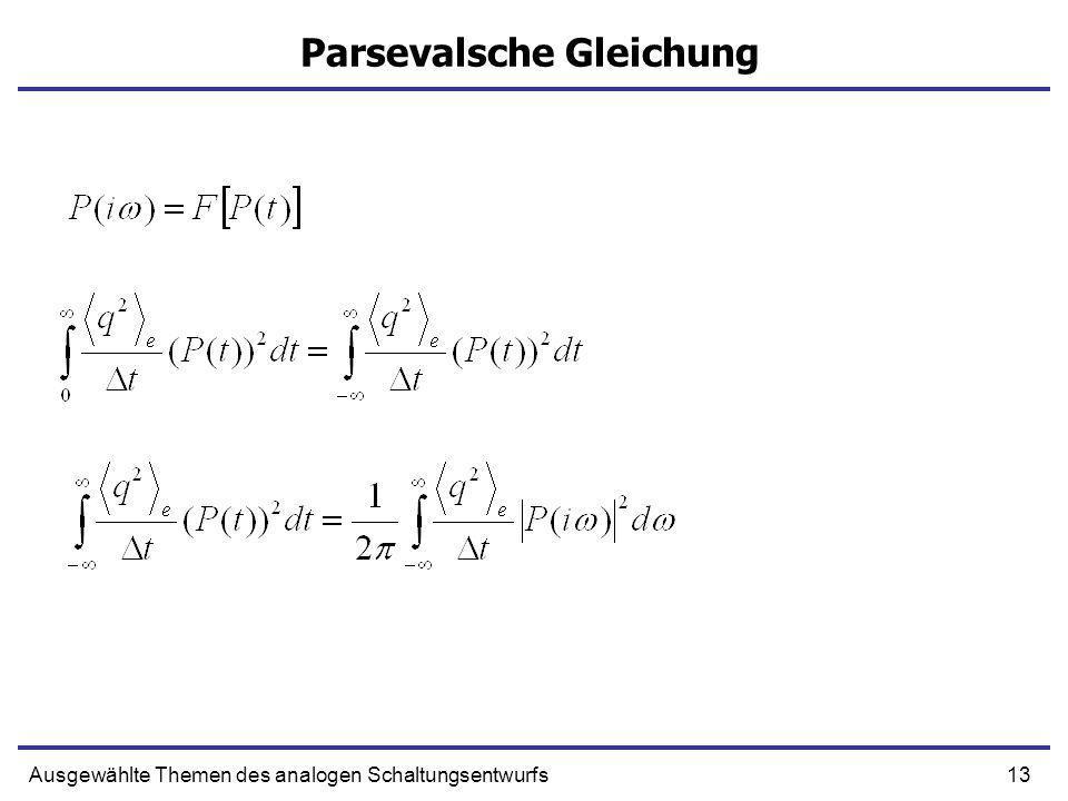 Parsevalsche Gleichung