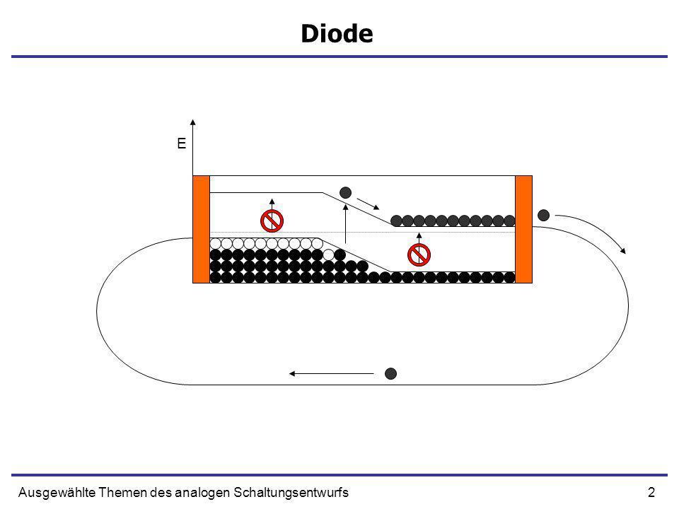 Diode E Ausgewählte Themen des analogen Schaltungsentwurfs