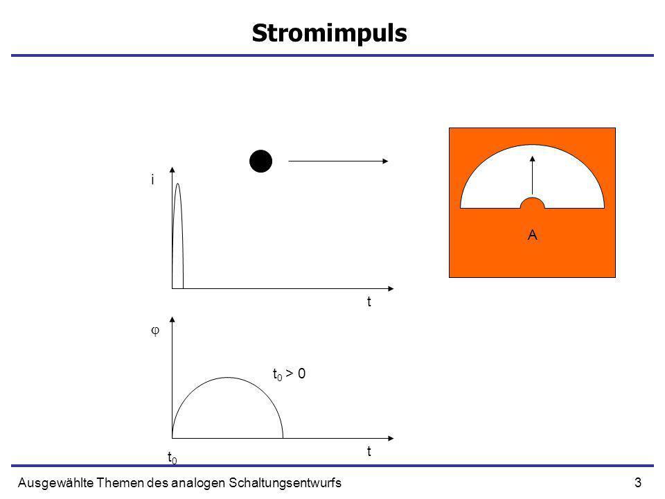 Stromimpuls i A t  t0 > 0 t t0