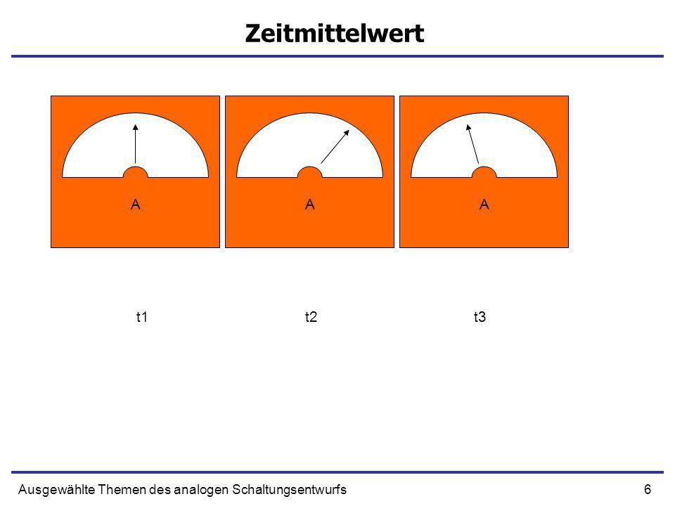 Zeitmittelwert A A A t1 t2 t3