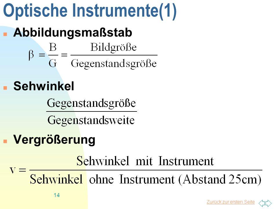 Optische Instrumente(1)