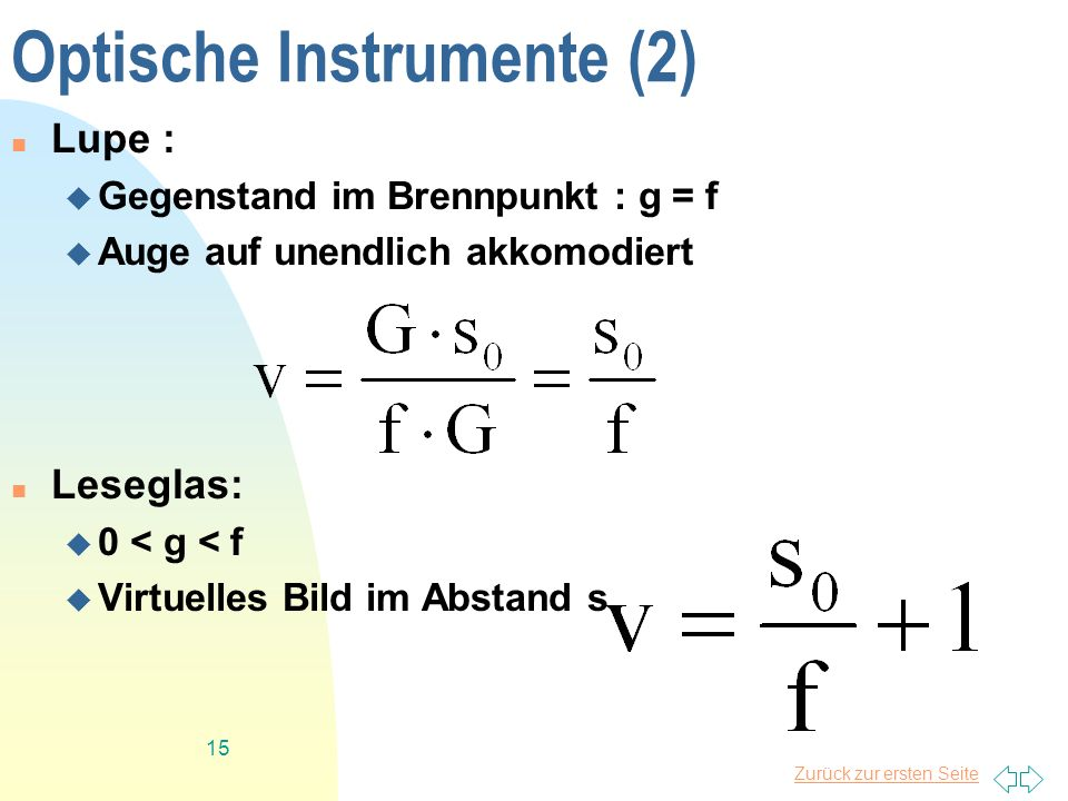 Optische Instrumente (2)