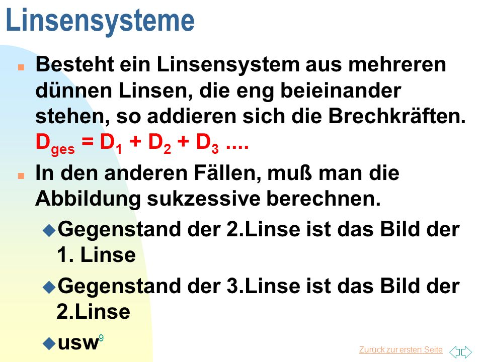 Linsensysteme