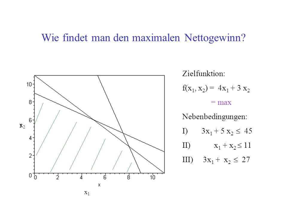 Wie findet man den maximalen Nettogewinn