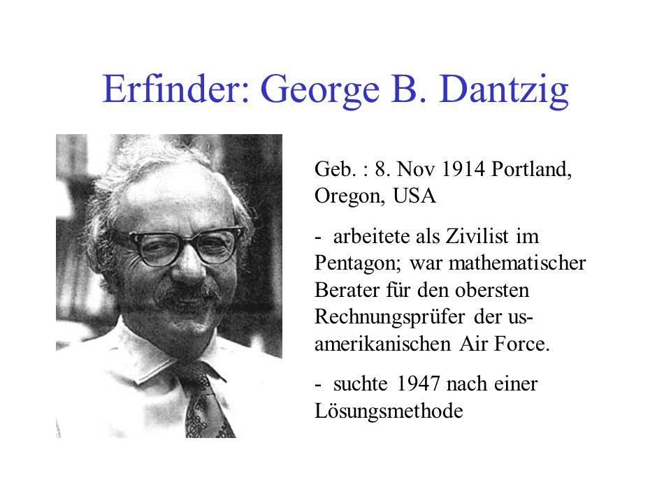 Erfinder: George B. Dantzig