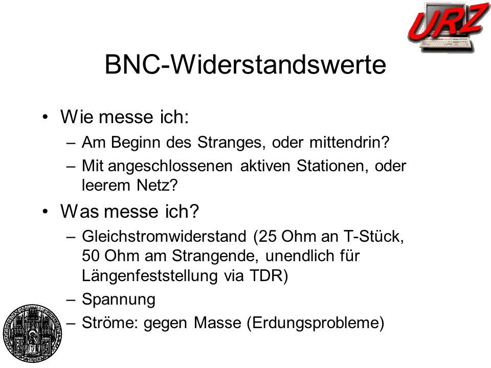 BNC-Widerstandswerte