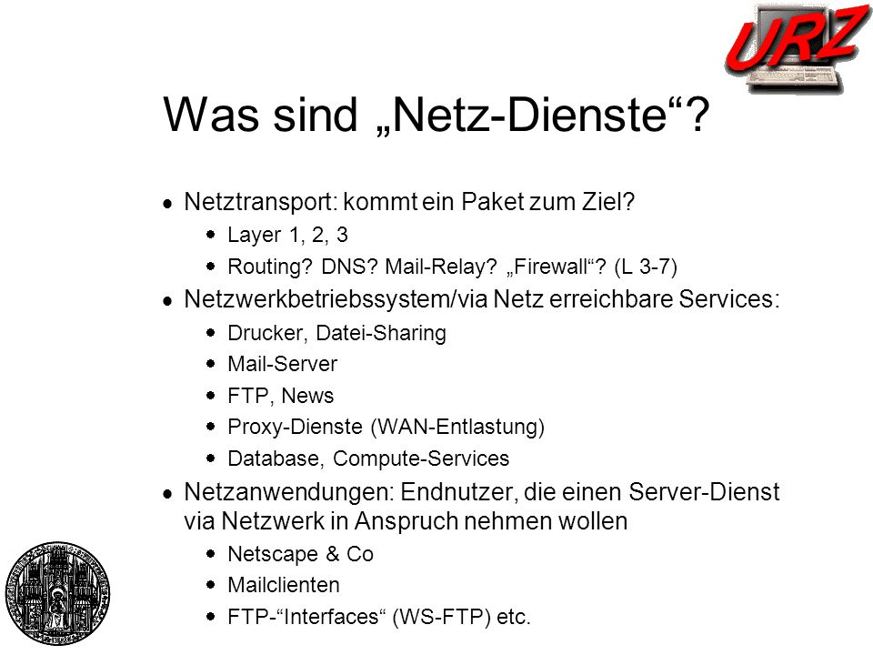 """Was sind """"Netz-Dienste"""