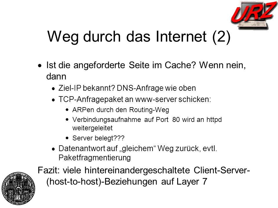 Weg durch das Internet (2)