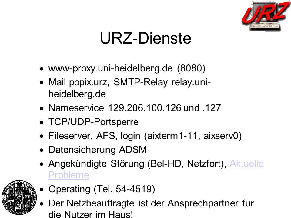 URZ-Dienste www-proxy.uni-heidelberg.de (8080)