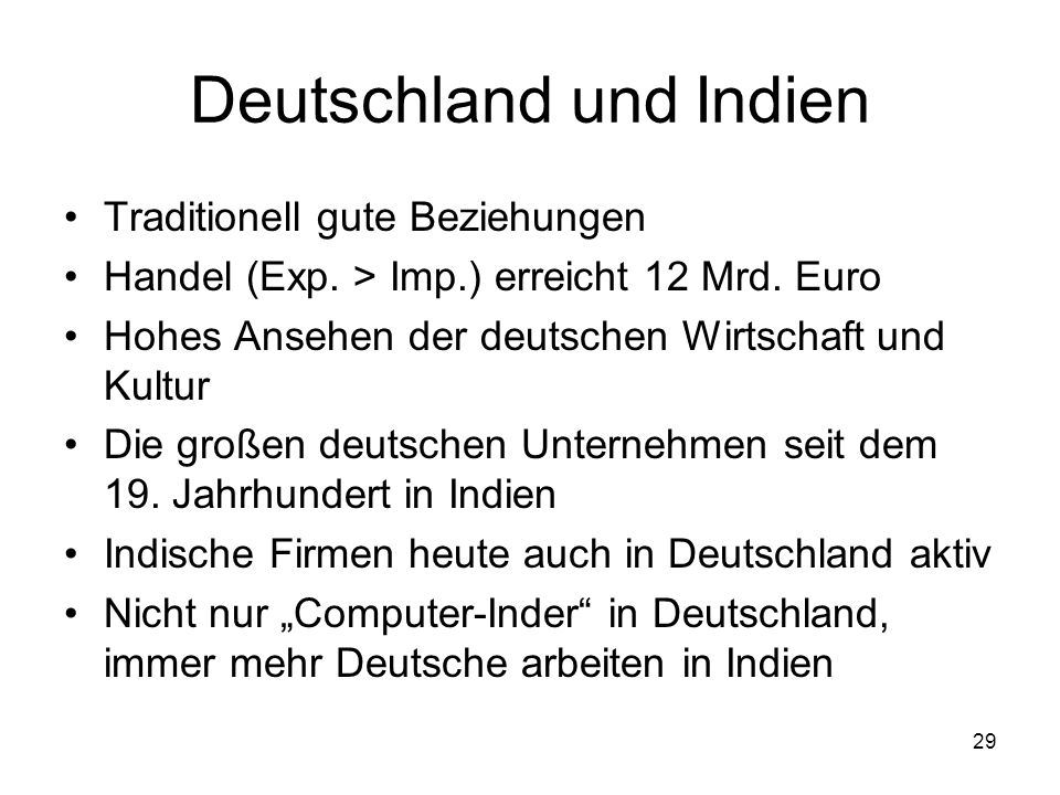 Deutschland und Indien