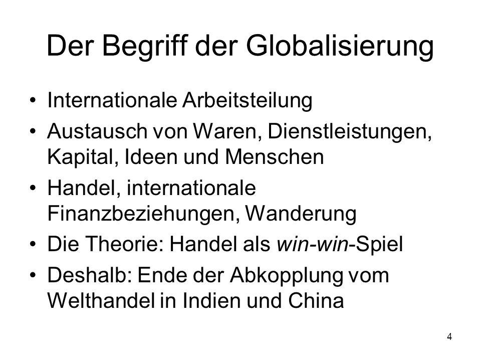 Der Begriff der Globalisierung
