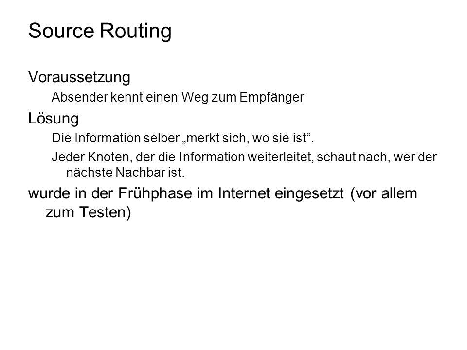 Source Routing Voraussetzung Lösung
