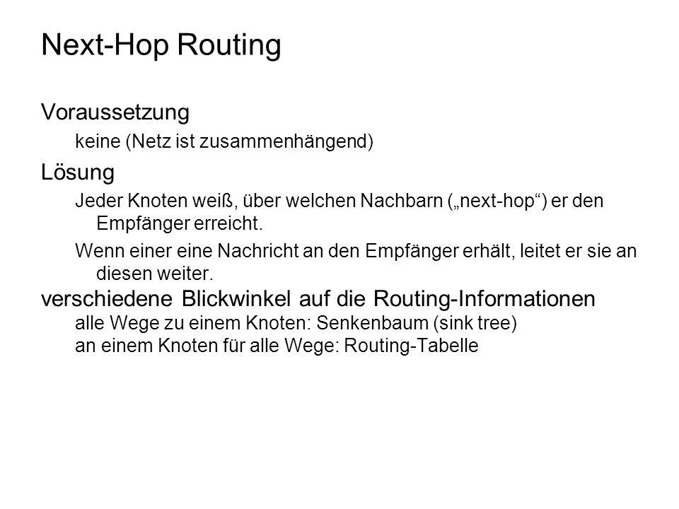 Next-Hop Routing Voraussetzung Lösung