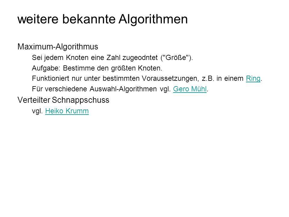 weitere bekannte Algorithmen