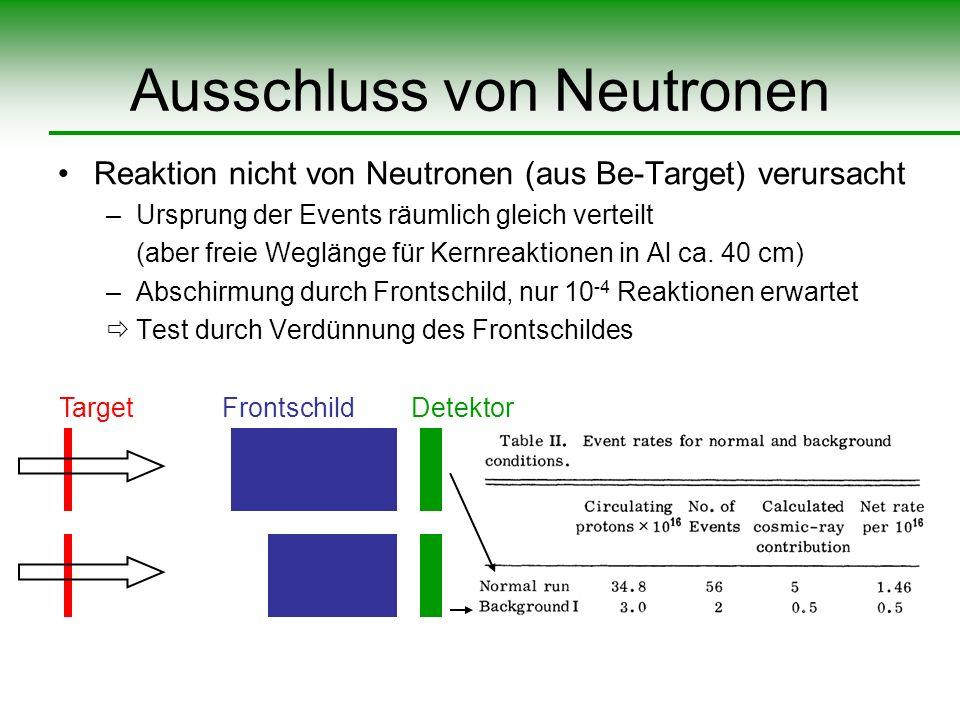 Ausschluss von Neutronen