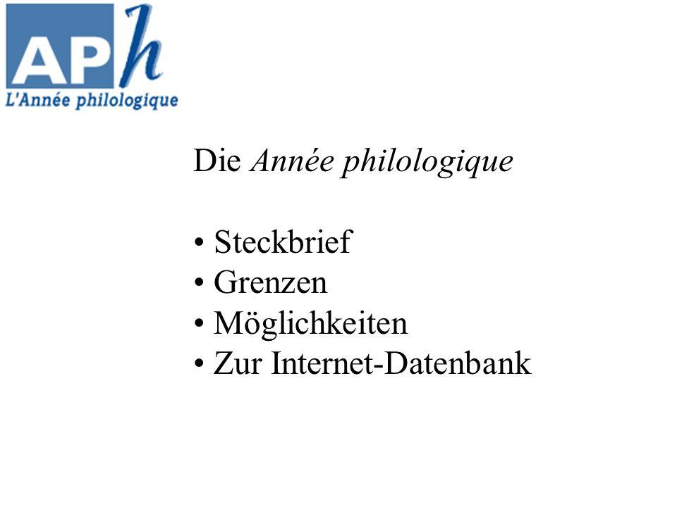 Die Année philologique