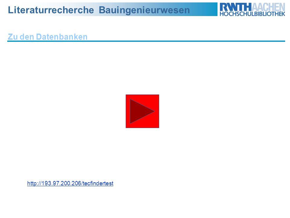 Zu den Datenbanken http://193.97.200.206/tecfindertest