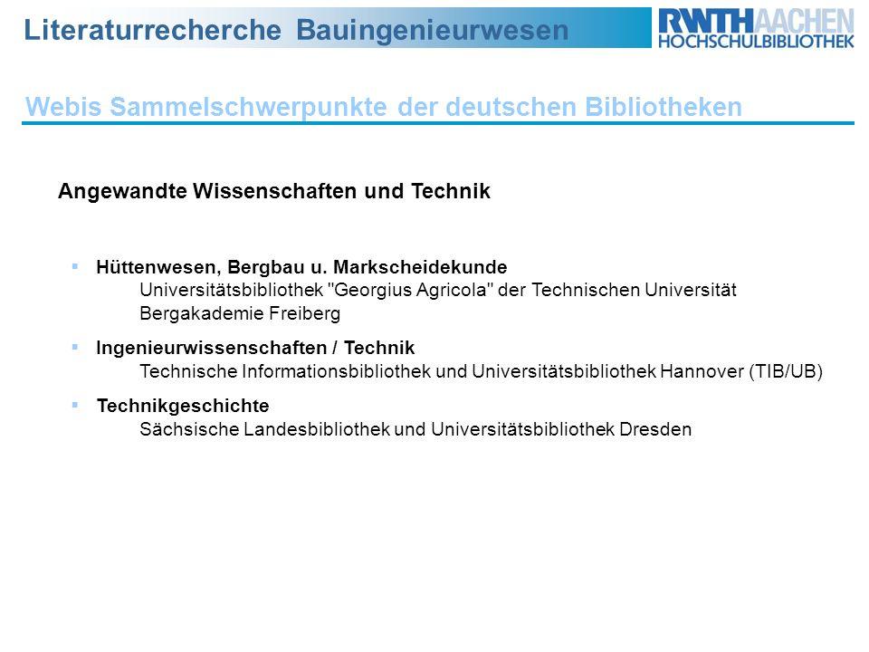 Webis Sammelschwerpunkte der deutschen Bibliotheken