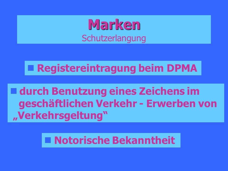 Marken Schutzerlangung