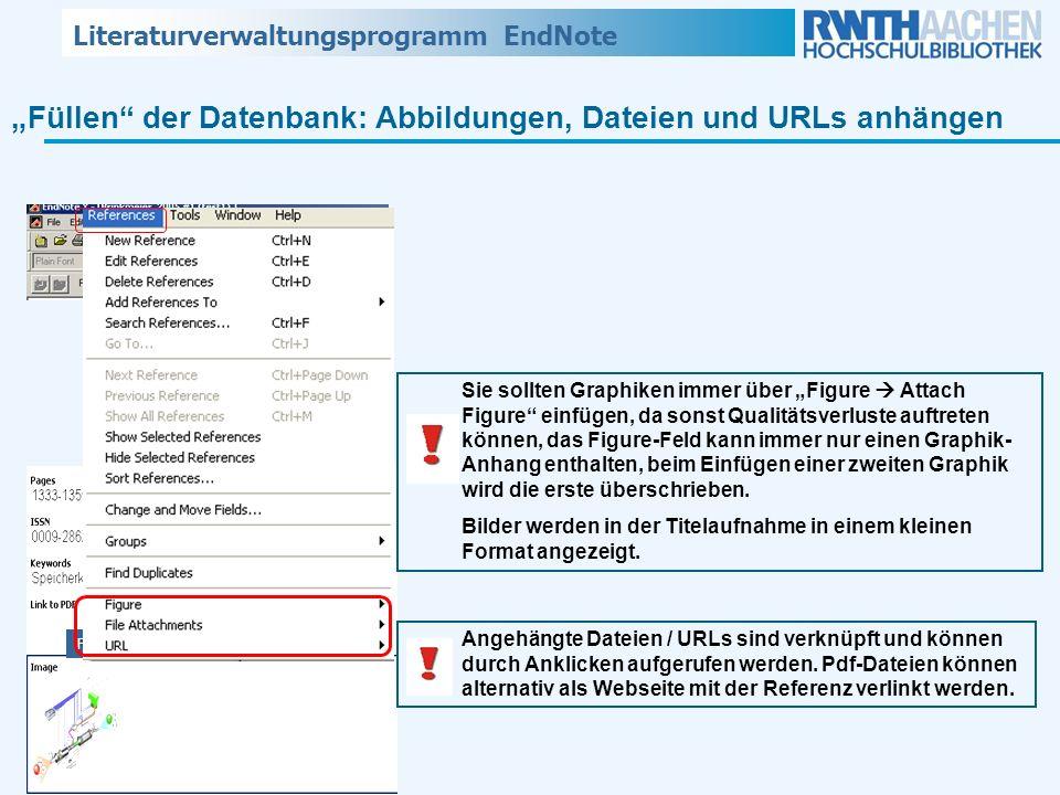 """""""Füllen der Datenbank: Abbildungen, Dateien und URLs anhängen"""
