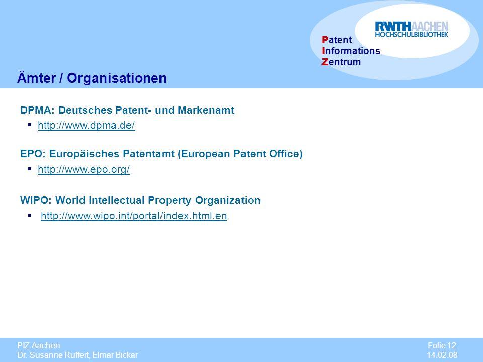 Ämter / Organisationen