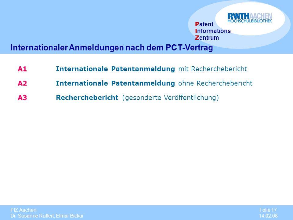 Internationaler Anmeldungen nach dem PCT-Vertrag