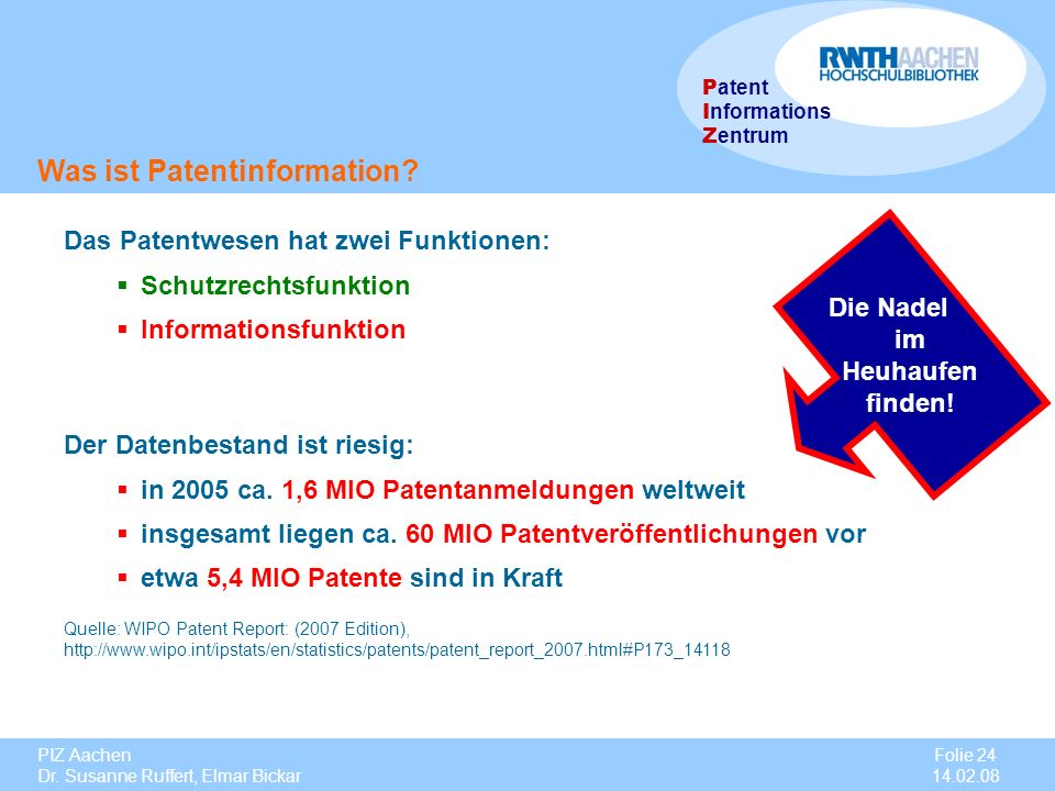 Was ist Patentinformation
