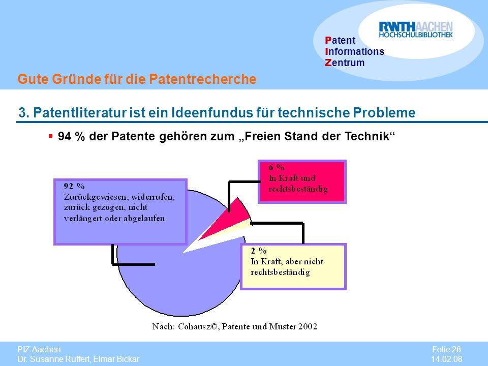 """94 % der Patente gehören zum """"Freien Stand der Technik"""