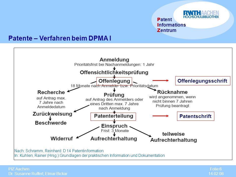 Patente – Verfahren beim DPMA I