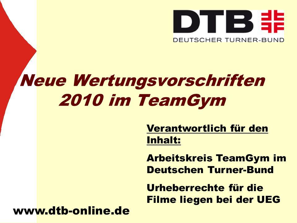 Neue Wertungsvorschriften 2010 im TeamGym