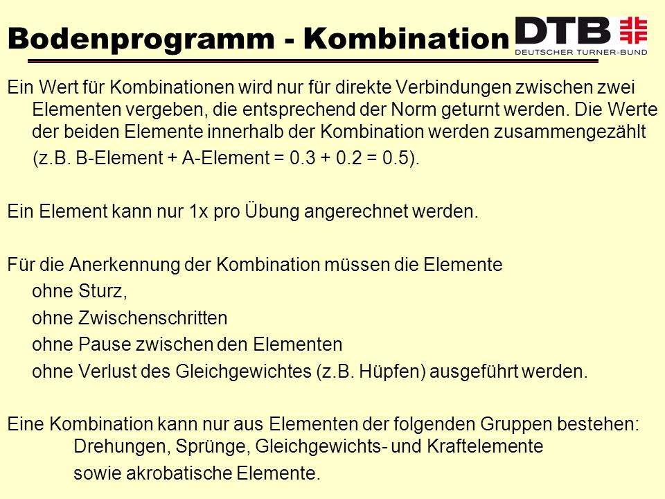 Bodenprogramm - Kombination