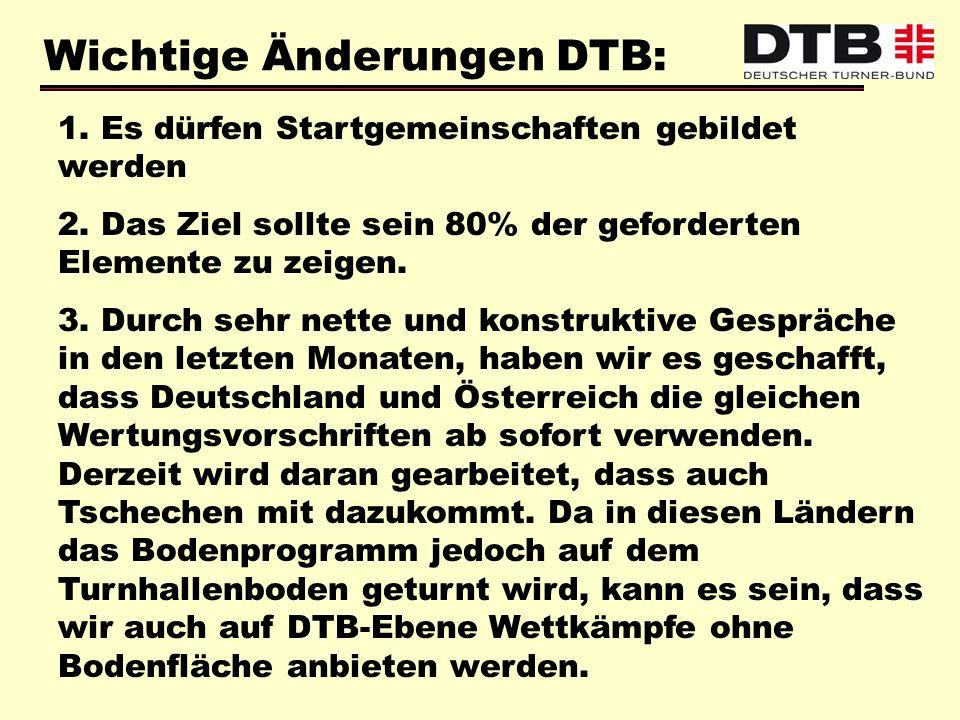 Wichtige Änderungen DTB: