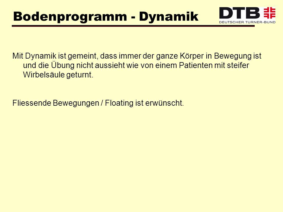 Bodenprogramm - Dynamik