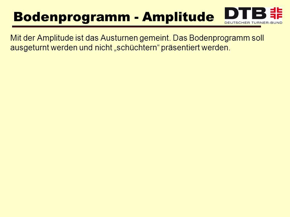 Bodenprogramm - Amplitude
