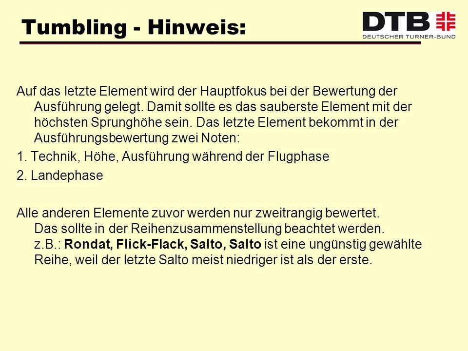 Tumbling - Hinweis: