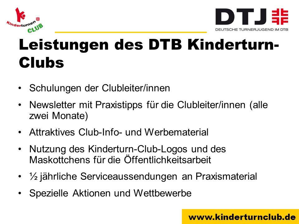 Leistungen des DTB Kinderturn-Clubs