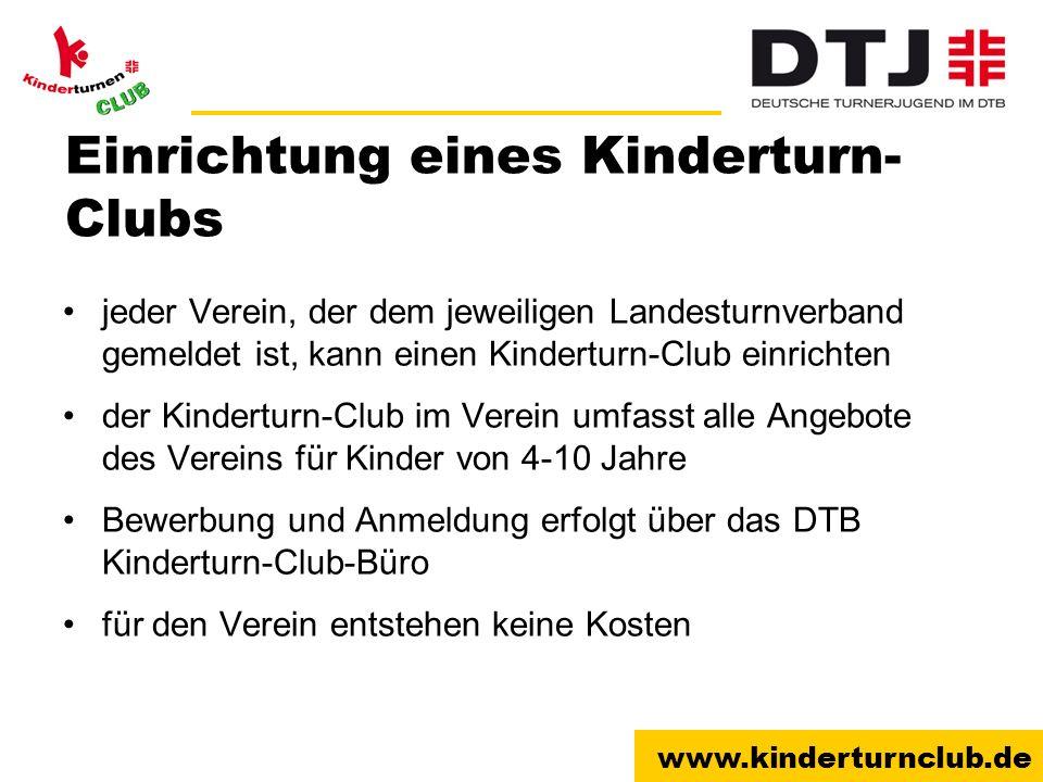 Einrichtung eines Kinderturn-Clubs