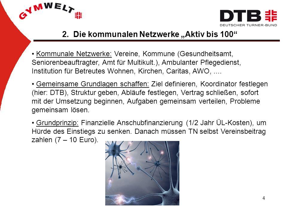 """2. Die kommunalen Netzwerke """"Aktiv bis 100"""