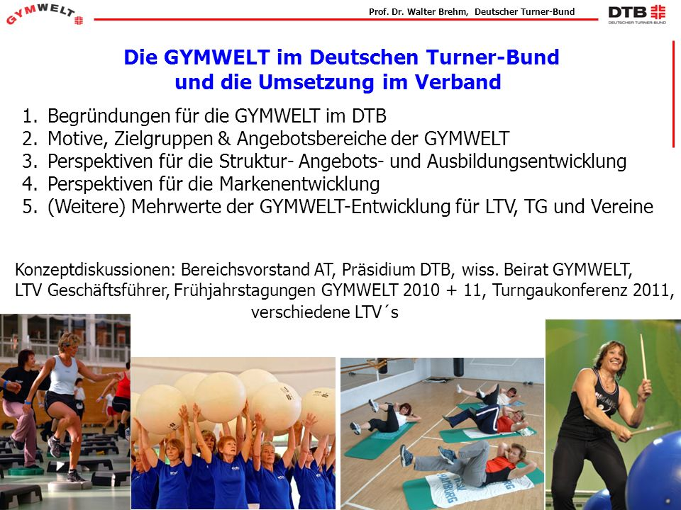 Die GYMWELT im Deutschen Turner-Bund und die Umsetzung im Verband