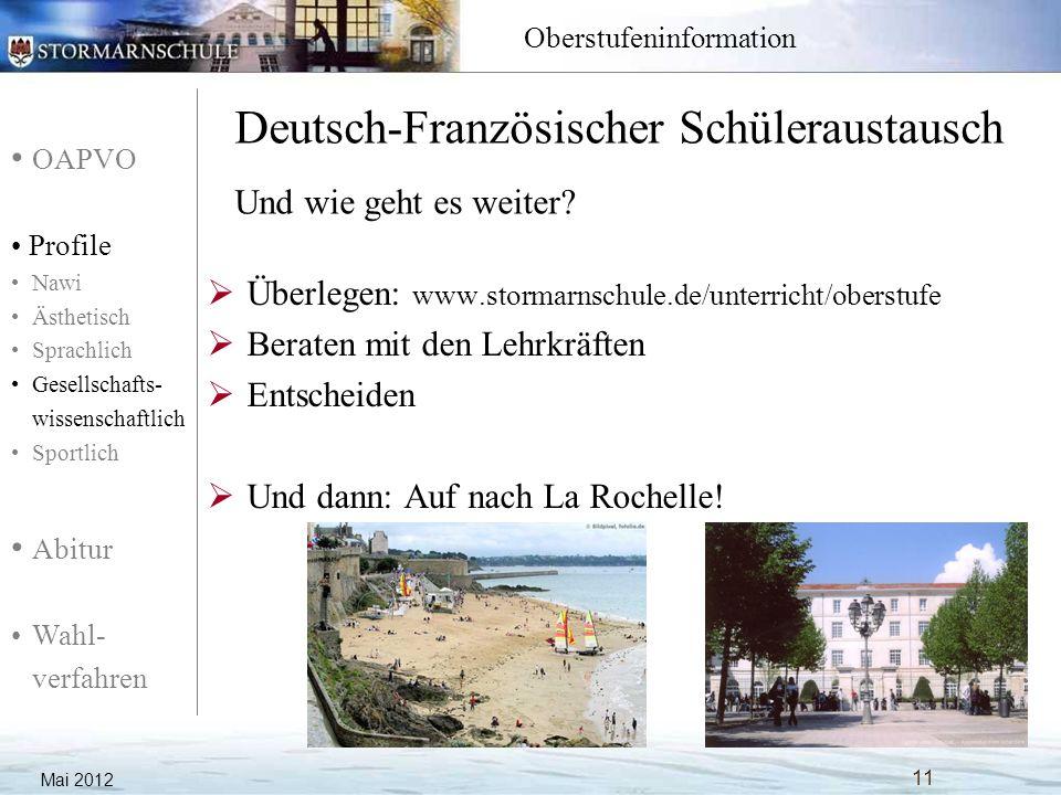 Deutsch-Französischer Schüleraustausch