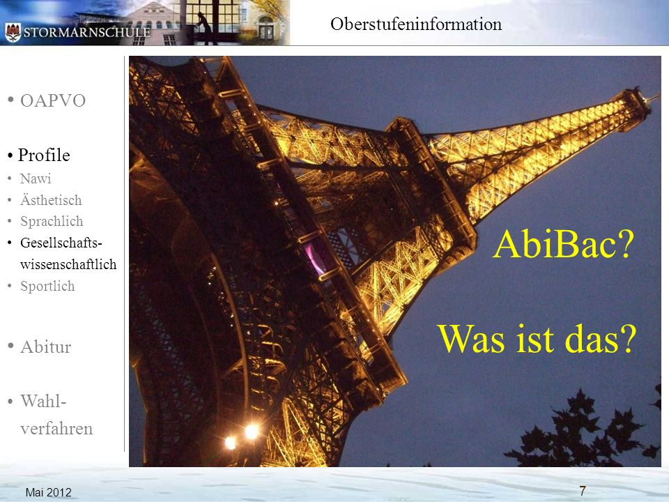 AbiBac Was ist das Mai 2012