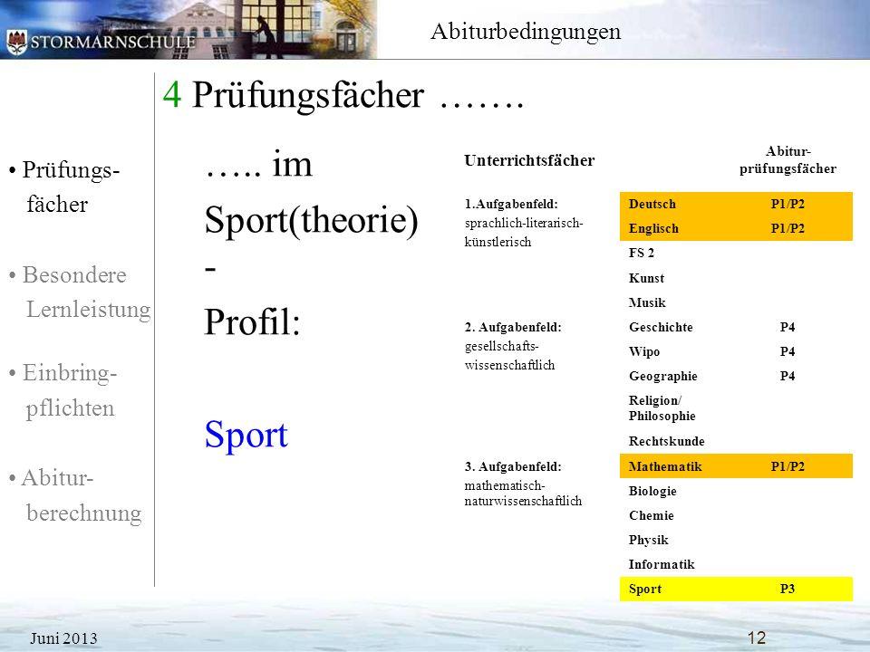 Abitur- prüfungsfächer