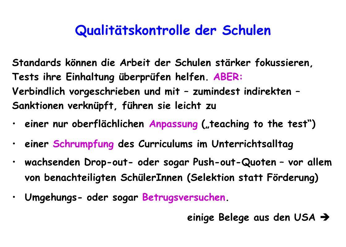 Qualitätskontrolle der Schulen