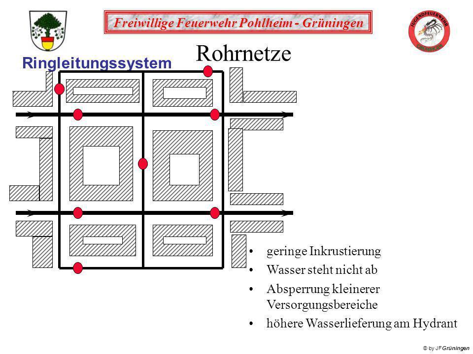 Rohrnetze Ringleitungssystem geringe Inkrustierung