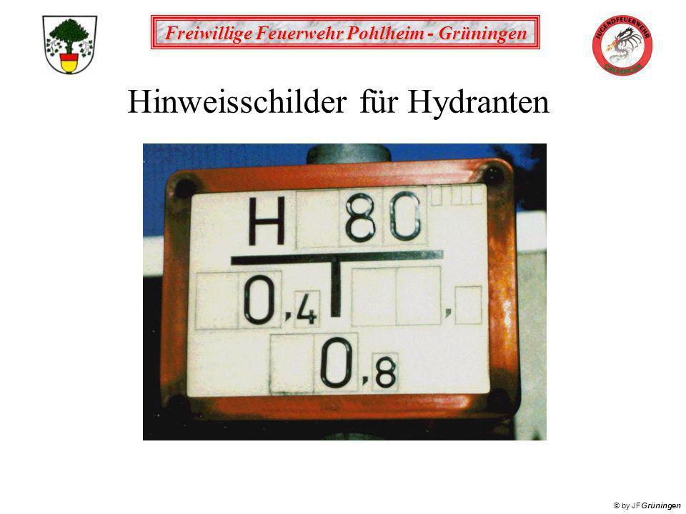 Hinweisschilder für Hydranten