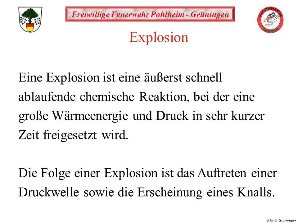 Explosion Eine Explosion ist eine äußerst schnell