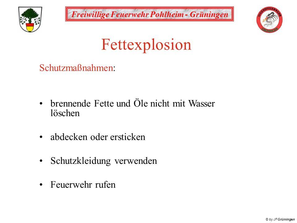 Fettexplosion Schutzmaßnahmen: