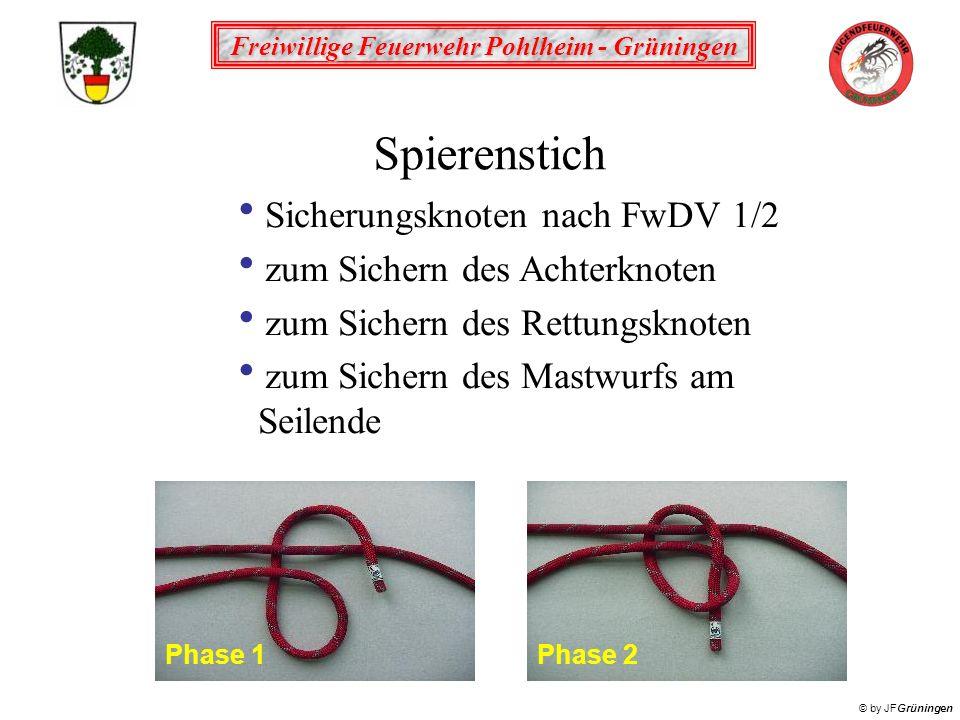 Spierenstich Sicherungsknoten nach FwDV 1/2