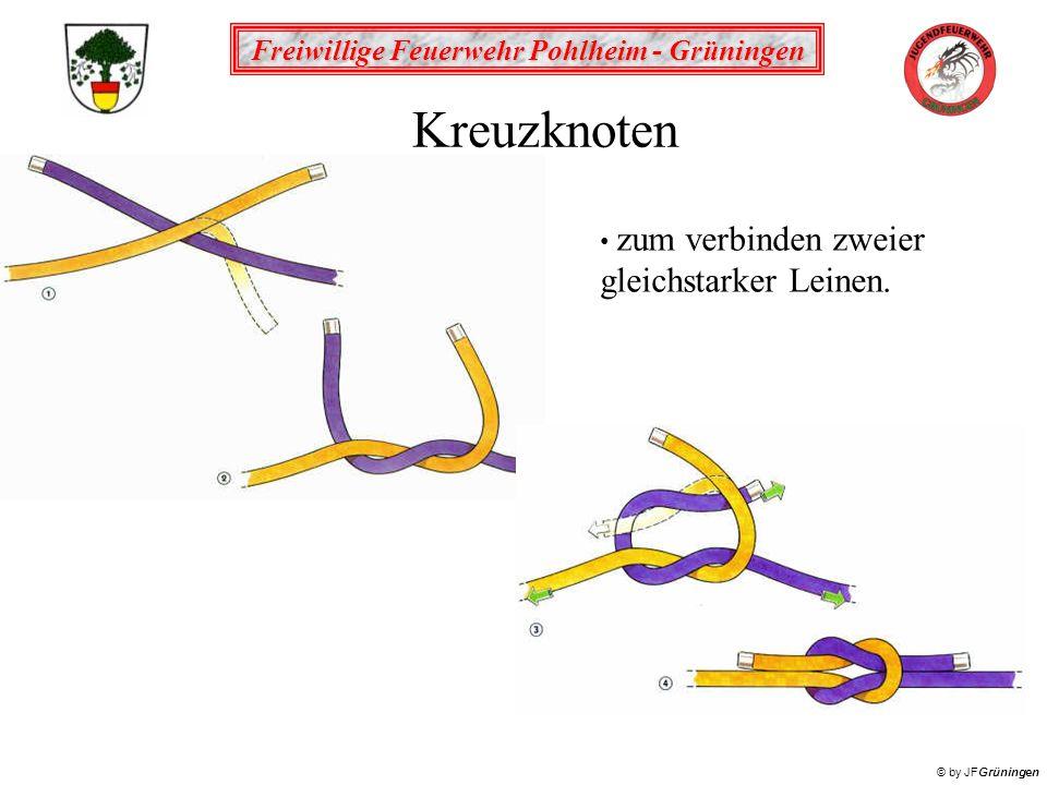 Kreuzknoten zum verbinden zweier gleichstarker Leinen.